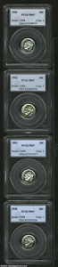 Proof Roosevelt Dimes: , 10C1950 PR67 PCGS, a fully struck and immaculately ...