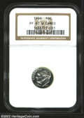Proof Roosevelt Dimes: , 1950 10C PR67 W Cameo NGC. Untoned and bright with ...