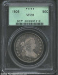 Early Half Dollars: , 1806 50C Pointed 6, No Stem VF20 PCGS. O-109, R.1. Rather ...