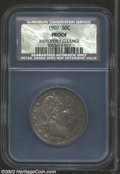 Proof Barber Half Dollars: , 1907 50C Proof, Improperly Cleaned NCS. Murky maroon, ...