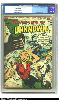 Adventures Into the Unknown #14 (ACG, 1950) CGC VG/FN 5.0 Cream to off-white pages. Ogden Whitney cover. Gene Colan and...
