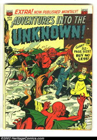 Adventures Into the Unknown #15 (ACG, 1951) Condition: FN+. Ogden Whitney cover and art. Fred Guardineer art. Only three...