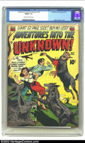 Golden Age (1938-1955):Horror, Adventures Into the Unknown #18 (ACG, 1951) CGC FN/VF 7.0 Cream tooff-white pages. Great Werewolf cover! Overstreet 2002 FN...