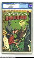 Golden Age (1938-1955):Horror, Adventures Into the Unknown #20 (ACG, 1951) CGC FN+ 6.5 Cream tooff-white pages. Ogden Whitney cover. Overstreet 2002 FN 6....