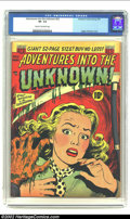 Golden Age (1938-1955):Horror, Adventures Into the Unknown #22 (ACG, 1951) CGC VF- 7.5 Cream tooff-white pages. Classic Pre-Code horror in the ACG style. ...