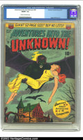 Golden Age (1938-1955):Horror, Adventures Into the Unknown #23 (ACG, 1951) CGC FN/VF 7.0 Cream tooff-white pages. Fantastic Bat/Man cover. Odgen Whitney a...