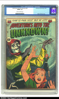 Golden Age (1938-1955):Horror, Adventures Into the Unknown #26 (ACG, 1951) CGC FN/VF 7.0 Cream tooff-white pages. Classic skeletal image. Overstreet 2002 ...