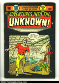 "Golden Age (1938-1955):Horror, Adventures Into the Unknown #52 (ACG, 1954) Condition: GD/VG. HarryLazarus cover and art. 3-D effect ""True Vison"" issue. Th..."