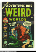 Golden Age (1938-1955):Horror, Adventures Into Weird Worlds #24 (Atlas, 1953) Condition: VG-.Bizarre hypo cover. Overstreet 2002 GD 2.0 value = $20; FN 6....