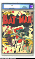 Golden Age (1938-1955):Superhero, Batman #11 (DC, 1942) CGC VF- 7.5 Off-white to white pages. Classic Joker cover. Joker and Penguin appearance. Fred Ray/Jerr...