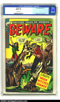 Golden Age (1938-1955):Horror, Beware #8 (Trojan, 1954) CGC FN/VF 7.0 Off-white pages. What acreepy cover by Hollingsworth! Overstreet 2002 FN 6.0 value =...