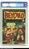 Golden Age (1938-1955):Horror, Beyond #9 (Ace, 1952) CGC VF+ 8.5 Cream to off-white pages.Beautiful black-covered pre-Code horror. Overstreet 2002 VF 8.0 ...