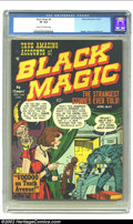 Golden Age (1938-1955):Horror, Black Magic #4 (Prize, 1951) CGC VF 8.0 Cream to off-white pages.Fantastic artwork by three of the masters; Mort Meskin, Jo...