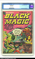 Golden Age (1938-1955):Horror, Black Magic #18 (Prize, 1952) CGC FN+ 6.5 Cream to off-white pages.Jack Kirby cover and art. Overstreet 2002 FN 6.0 value =...