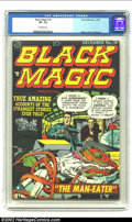 Golden Age (1938-1955):Horror, Black Magic #19 (Prize, 1952) CGC VF- 7.5 Off-white pages. JackKirby cover. Kirby and Meskin art. Overstreet 2002 VF 8.0 va...