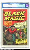 Golden Age (1938-1955):Horror, Black Magic #24 (Prize, 1953) CGC FN/VF 7.0 Cream to off-whitepages. Jack Kirby cover and art. Overstreet 2002 FN 6.0 value...