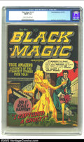 Golden Age (1938-1955):Horror, Black Magic v2 #1 (Prize, 1951) CGC FN/VF 7.0 Cream to off-whitepages. Joe Simon and Jack Kirby artwork. Overstreet 2002 FN...