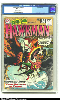 The Brave and the Bold #43 (DC, 1962) CGC VF+ 8.5 Off-white to white pages. A more detailed origin of Hawkman. Joe Kuber...