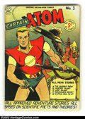 Golden Age (1938-1955):Science Fiction, Captain Atom lot of #3-5 (Nationwide Publications, 1950). #3 FN, #4VF- and #5 FN+. High-grade lot of rarely seen mini-sized...