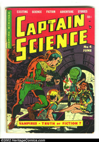 Captain Science #4 (Youthful Magazines, 1951) Condition: GD+. Beautiful Wally Wood and Joe Orlando artwork. Overstreet 2...