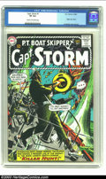 Silver Age (1956-1969):War, Captain Storm #1 (DC, 1964) CGC VF 8.0 Cream to off-white pages.Origin Captain Storm. Irv Novick cover and art. CGC highest...