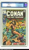 Bronze Age (1970-1979):Miscellaneous, Conan The Barbarian #1 (Marvel, 1970) CGC NM- 9.2 Off-white towhite pages. Origin and first appearance of Conan. First appe...