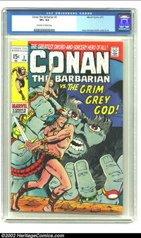 Conan The Barbarian #3 (Marvel, 1971) CGC VF+ 8.5 Off-white to white pages. Low distribution in some areas. Barry Windso...