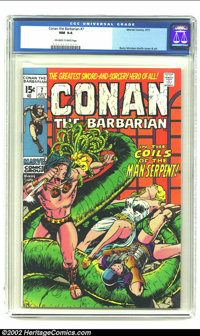 Conan The Barbarian #7 (Marvel, 1971) CGC NM 9.4 Off-white to white pages. Barry Smith cover and art. Overstreet 2002 NM...