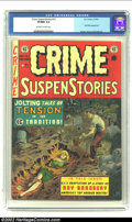 Golden Age (1938-1955):Crime, Crime SuspenStories #15 (EC, 1953) CGC VF/NM 9.0 Off-white to white pages. Craig cover and an early appearance by the Old Wi...
