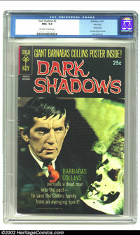 Dark Shadows #3 File Copy (Gold Key, 1969) CGC NM+ 9.6 Off-white to white pages. Photo cover, includes pull-out poster...