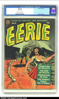 Golden Age (1938-1955):Horror, Eerie #4 (Avon, 1952) CGC VG 4.0 Cream to off-white pages.Sensational Wally Wood cover. Overstreet 2002 GD 2.0 value =$55;...