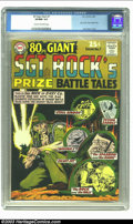 Silver Age (1956-1969):War, 80 Page Giant #7 Sgt. Rock's Prize Battle Tales (DC, 1965) CGC VF/NM 9.0 Cream to off-white pages. Joe Kubert cover. Highest...