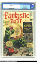 Silver Age (1956-1969):Superhero, Fantastic Four #1 (Marvel, 1961) CGC GD/VG 3.0 Cream to off-white pages. Jack Kirby had been doing monster covers for most o...