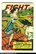 Golden Age (1938-1955):Adventure, Fight Comics #47 (Fiction House, 1946) Condition: VG/FN. Lily Renee cover and art. Matt Baker art (3 stories). First time we...