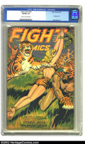 Golden Age (1938-1955):Adventure, Fight Comics #50 (Fiction House, 1947) CGC VG/FN 5.0 Cream to off-white pages. Bondage cover by Joe Doolin. Matt Baker, Jack...
