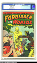 Golden Age (1938-1955):Horror, Forbidden Worlds #8 (ACG, 1952) CGC FN/VF 7.0 Cream to off-whitepages. Overstreet 2002 FN 6.0 value = $93; VF 8.0 value = $...