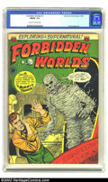 Golden Age (1938-1955):Horror, Forbidden Worlds #11 (ACG, 1952) CGC FN/VF 7.0 Cream to off-whitepages. Overstreet 2002 FN 6.0 value = $66; VF 8.0 value = ...