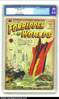 Golden Age (1938-1955):Horror, Forbidden Worlds #35 (ACG, 1955) CGC FN+ 6.5 Cream to off-whitepages. Fantastic Rocketship crashing cover. Overstreet 2002 ...