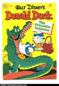 Golden Age (1938-1955):Cartoon Character, Four Color #348 Donald Duck (Dell, 1951) Condition: FN. Carl Barks Classic. Overstreet 2002 FN 6.0 value = $45....