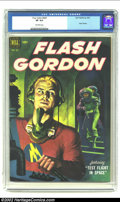 Golden Age (1938-1955):Science Fiction, Four Color #424 Flash Gordon (Dell, 1952) CGC VF 8.0 Off-whitepages. Beautiful painted cover. Overstreet 2002 VF 8.0 value ...