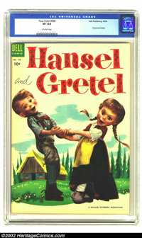 Four Color #590 Hansel and Gretel (Dell, 1954) CGC VF 8.0 Off-white pages. Highest (and only) copy graded by CGC. Overst...