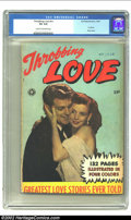 """Golden Age (1938-1955):Romance, Fox Giants Throbbing Love (Fox Features Syndicate, 1950) CGC VG 4.0 Cream to off-white pages. Gerber """"scarce"""". Only copy of ..."""