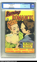 "Golden Age (1938-1955):Romance, Fox Giants Burning Romances (Fox Features Syndicate, 1949) CGC VG4.0 Cream to off-white pages. Gerber ""scarce"". Only copy o..."
