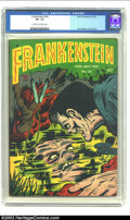 Golden Age (1938-1955):Horror, Frankenstein #24 (Prize, 1953) CGC VF- 7.5 Cream to off-whitepages. Dick Briefer cover and art. Overstreet 2002 VF 8.0 valu...