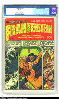Golden Age (1938-1955):Horror, Frankenstein #32 (Prize, 1954) CGC VF- 7.5 Cream to off-whitepages. Dick Briefer cover and art. Overstreet 2002 VF 8.0 valu...
