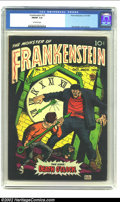Golden Age (1938-1955):Horror, Frankenstein #33 (Prize, 1954) CGC FN/VF 7.0 Off-white pages. DickBriefer cover and art. Overstreet 2002 FN 6.0 value = $72...