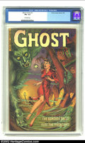 Golden Age (1938-1955):Horror, Ghost Comics #1 (Fiction House, 1951) CGC FN+ 6.5 Off-white pages.Whitman cover. Overstreet 2002 FN 6.0 value = $207. Fro...