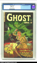Golden Age (1938-1955):Horror, Ghost Comics #3 (Fiction House, 1952) CGC FN/VF 7.0 Cream tooff-white pages. What a fantastic cover! Overstreet 2002 FN 6.0...