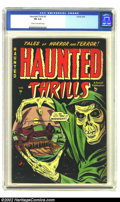 Golden Age (1938-1955):Horror, Haunted Thrills #2 (Farrell, 1952) CGC FN 6.0 Cream to off-whitepages. Beautiful pre-Code horror with a solid black cover. ...