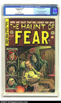 "Golden Age (1938-1955):Horror, The Haunt of Fear #26 (EC, 1954) CGC VF/NM 9.0 Off-white pages.Contains anti-censorship editorial, ""Are You a Red Dupe?"" In..."